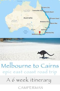 The Melbourne to Cairns Drive: this epic East Coast of Australia road trip is an adventure of a lifetime. This 6 week itinerary packs in some truly memorable adventures - Great Barrier Reef, Fraser Island, Hinchinbrook Island, the Whitsunday Islands, Melb Melbourne, Sydney, Brisbane, Perth, Cairns, Australia Travel Guide, Visit Australia, Australia Honeymoon, Australia Trip