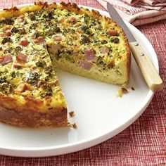Broccoli, Ham & Cheese Quiche - EatingWell.com
