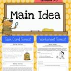 Main Idea Worksheets & Task Cards (Intermediate)    This resource includes 20 school themed reading passages in BOTH task card and worksheet form...