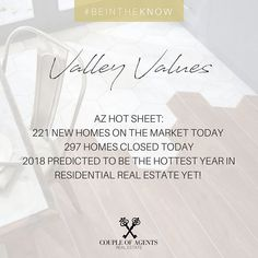 @coupleofagents || It's time to #BeInTheKnow with some Valley Value updates! We had a new listing hit the market in the stunning Augusta Ranch earlier this week, and we've been overwhelmed with all of the Mesa questions so here's some of the Juicy info you've all been asking for! Mesa is looking 🔥,🔥,🔥