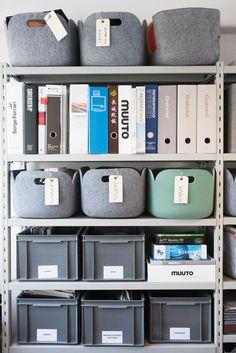 felt storage bins - via design milk