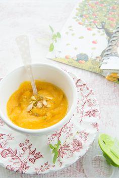 #baby food #baby puree #recettes pour bébé #butternut and delicata squash baby purée