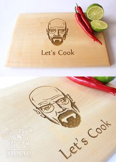 Hey, I found this really awesome Etsy listing at https://www.etsy.com/listing/227073677/breaking-bad-cutting-board-lets-cook