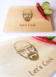 Breaking Bad Cutting Board Let's Cook Heisenberg by NomadGift