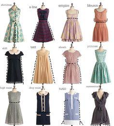 types of dress