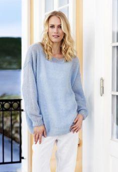 Strik lun og let sweater