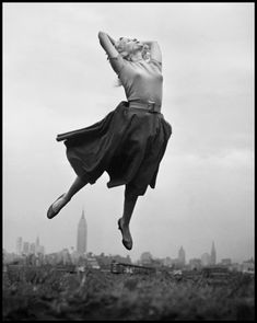 """Eva Saint Marie From """"Philippe Halsman's Jump Book"""" (1959) — reissued by Abrams (1986)."""