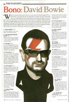 Bono on David Bowie