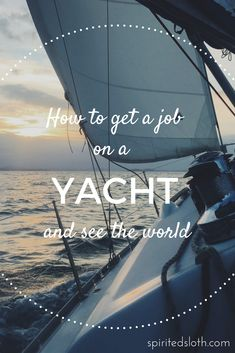 Getting a job travelling the world on boats is actually, genuinely within reach and totally doable. Often it's about knowing the right people, but there are ways around that, let me tell you how... #travelblog #traveltips #yacht #sailing #explore