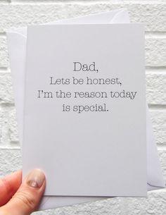 Hecho a mano divertidos padres día tarjeta en blanco por Tomandmacy