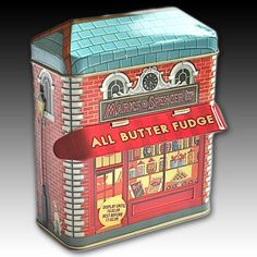 MARKS & SPENCER all butter fudge tin