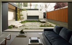 enclosed residential courtyard
