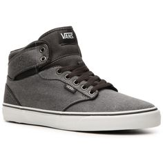 4 in youth womens) Vans Atwood High-Top Sneaker - Mens and other apparel, accessories and trends. Browse and shop 8 related looks. Best Sneakers, Vans Sneakers, Vans Shoes, Sneakers Fashion, High Top Sneakers, Vans Footwear, Gucci Sneakers, Suede Shoes, High Tops