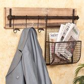 I wonder if I could make something like this this for the entrance into the kitchen. The basket would be perfect for collecting mail. Don't like it enough to pay $83 for.  Hampton Entryway Wall Coat Rack with Storage
