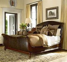 Ernest Hemingway Queen Aberdare Sleigh Bed by Thomasville® at Baer's Furniture British Colonial Bedroom, British Colonial Style, Colonial India, Dining Room Furniture, Home Furniture, Furniture Design, Colonial Furniture, Leather Furniture, Nursery Furniture