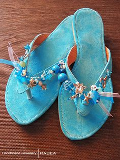 Mediterranean Blue Sea sandals by FtiagmenoStoXeri on Etsy, €35.00