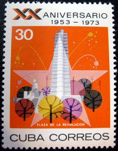 Stamp from Cuba, 1973.
