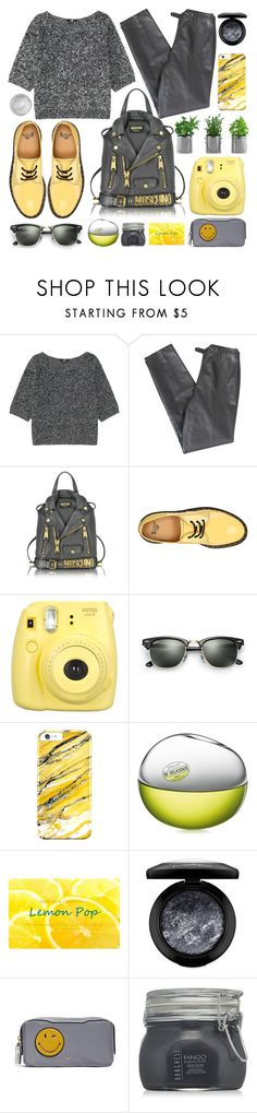 """Oversized sweaters"" by lenochca ❤ liked on Polyvore featuring Uniqlo, Lafayette 148 New York, Moschino, Dr. Martens, Fujifilm, Ray-Ban, DKNY, MAC Cosmetics, Anya Hindmarch and Silver Lining"
