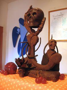 Chocolate Sculptures   The Curious Blogquat: Dia de Muertos Chocolate Sculpture
