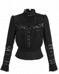 ISABEL MARANT Black Hamilton Embroidered Top