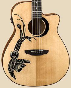 Beautiful Phoenix Luna Guitar