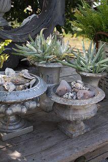 8 Industrious Tips: Garden Ideas Pots Container backyard garden shed fence.Flower Garden Ideas On A Budget backyard garden diy patio. Cactus, Garden Urns, Gravel Garden, Garden Planters, Water Garden, Modern Backyard, Cacti And Succulents, Garden Inspiration, Vegetable Garden