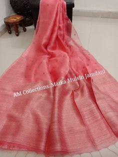 New collection Matka Muslin Jamdani Sarees Blue Silk Saree, Indian Silk Sarees, Indian Beauty Saree, Cotton Saree Designs, Silk Saree Blouse Designs, Jamdani Saree, Shiffon Saree, Traditional Dresses Designs, Saree Floral