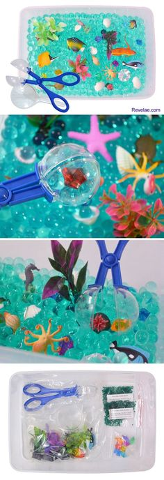 Ocean Exploration Discovery Box and kids sensory bin by Revelae Kids