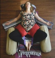 Amy is guest teaching tonight at This used to be Amy's… - Yin Yoga - Hatha Yoga Poses, Restorative Yoga Poses, Basic Yoga Poses, Yoga Nidra, Prenatal Yoga, Yoga Poses For Beginners, Pilates, Yoga Props, Relaxing Yoga