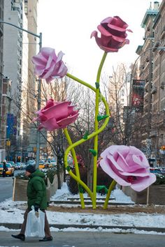 flower sculpture In New York