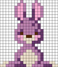 Rabbit 2 Perler Bead Pattern / Bead Sprite