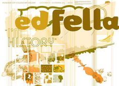 Poster for an Ed Fella exhibit at Pasadena City College Art Gallery. Designed by Gail Swanlund