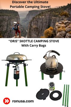 Discover the Ultimate Portable Camping Stove. It's the Oris Skottle Camping Stove!