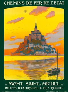 Mont-Saint-Michel-France-French-Europe-Vintage-Travel-Advertisement-Art-Poster-2