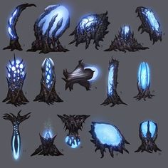 View an image titled 'Alien Pods Art' in our Duke Nukem Forever art gallery featuring official character designs, concept art, and promo pictures. Prop Design, Game Design, Alien Plants, Alien Concept Art, Game Concept, Illustration, Environment Concept, Creature Concept, Creature Design