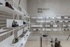 ABC department store by Kinnersley Kent Design, Lebanon – Beirut Shoe Store Design, Retail Store Design, Retail Shop, Retail Displays, Shop Displays, Window Displays, H Design, Design Blog, Display Design
