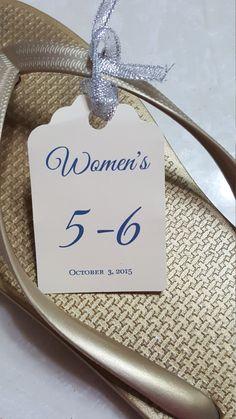 4681efa1adb Personalized Favor Tags 21 2   Wedding tags Love Flip Flop Basket