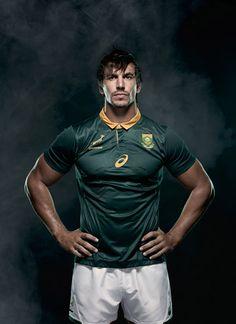 Springboks set to take on 2017 rugby season in their all-new ASICS springbok jersey. Eben Etzebeth, Kobe Japan, Stand Tall, Man Crush, My Man, Scientists, Hard Work, Rugby, South Africa