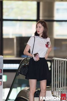 YoonA 180712 Gimpo Airport to Japan Airport Fashion Kpop, Korean Fashion Kpop, Snsd Fashion, Girl Fashion, Womens Fashion, Cute Korean, Korean Girl, Korean Style, Korean Beauty
