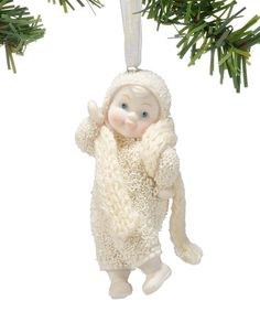 Loving this Dept. 56 Snow Babies Collection Strike a Pose Ornament on #zulily! #zulilyfinds