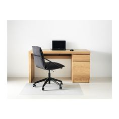 MALM Desk - oak veneer - IKEA