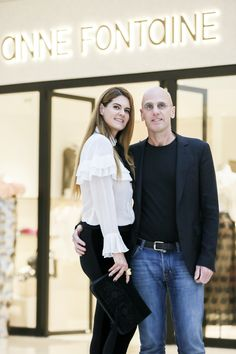 Anne Fontaine designer and her husband Ari Zlotkin at the opening of their new shop at Plaza 66 in Shangaï