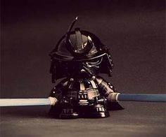 The dark side meets the land of the rising sun with the Darth Vader samurai toy. As if Vader's mind controlling abilities weren't deadly enough, now he's...