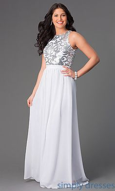 Sequin Embellished Open Back Long Formal Gown