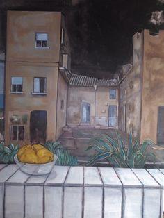Casa de Pueblo  Oil on canvas 130 x 97 cm