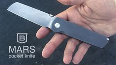 Lightweight compact EDC folding knife made in the USA from grade 5 Titanium & CTS-XHP stainless steel. A true modern heirloom.