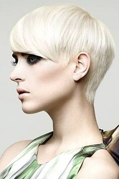 Platinum Blonde Pixie - very cute cut, if you're brave enough to go that short.