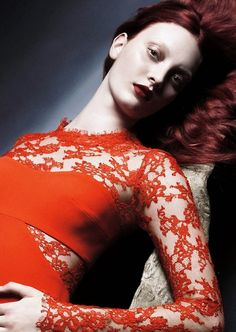 Codie Young in Monique Lhuillier Spring/Summer 2014 Campaign