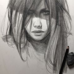 """elfandiary: """" scary monsters and nice sprites - Skrillex Portrait Sketches, Portrait Art, Drawing Sketches, Cool Drawings, Life Drawing, Sketching, Illusion Kunst, Face Sketch, People Art"""