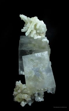 Fluorite and Quartz from Nikolai Mine, Dal'negorsk, Primorskiy Kray, Far-East Region, Siberia, Russia [http://img.irocks.com/2014-updates/OB...
